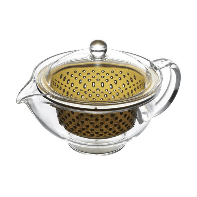 Ấm pha trà nhựa trong nâu